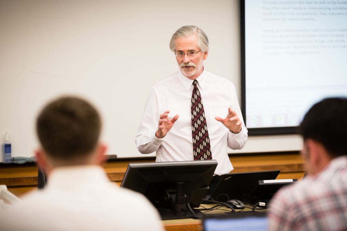 Dr. Greg Marshall teaching